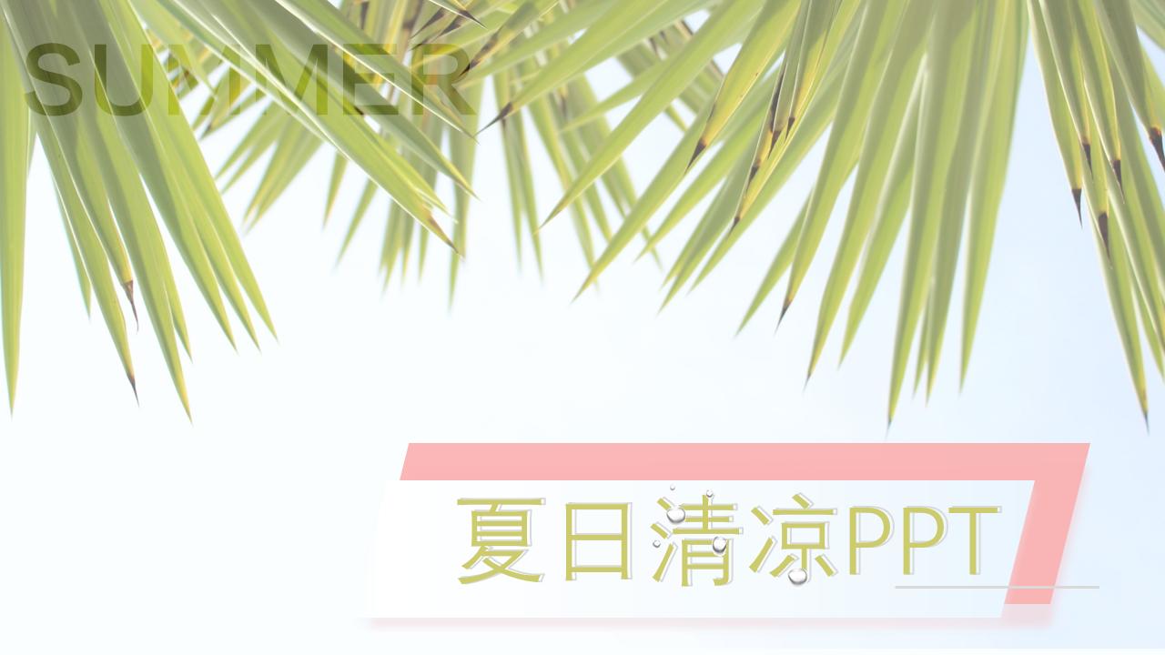 夏日清凉PPT